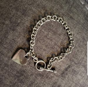 Jewelry - .925 Sterling Silver Bracelet with heart charm